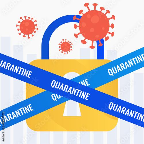 Economy, businesses in quarantine Canvas Print