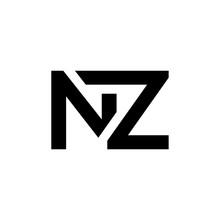 Initial Letter NZ Logo Design ...