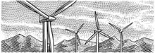 Wind Turbines Landscape View E...