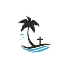 Beach Church Logo Design. Chri...