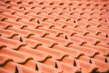 Red Tiles On A Roof