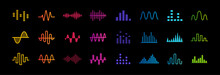 Set Of Music Equalizer Icons, ...