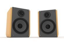 Audio Speaker Isolated On Whit...