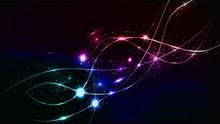 Abstract Multicolored Blue Vio...