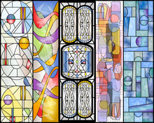 Stained Glass Abstract Vintage And Modern Designs Collection