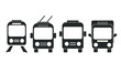 Set transport icons on white background. Vector elements, ready to use. EPS10