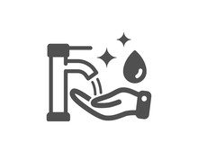 Washing Hands Icon. Sanitary C...