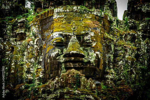 Photo Face at the North Gate of Angkor Thom, Cambodia.