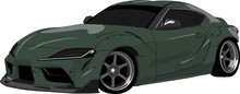 Green 2020 Toyota Supra Sports Car Isolated