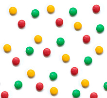 Balls Of Various Colors With W...