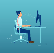 Vector Of An Office Worker Wit...