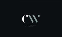 CW Letter Logo Design Icon Vector Symbol