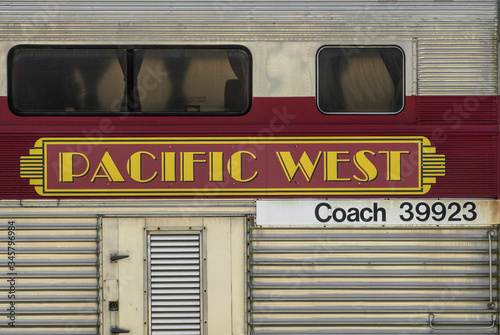 Pacific West Train Canvas Print