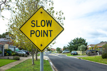 The Sign Of 'Slow Point' On Th...