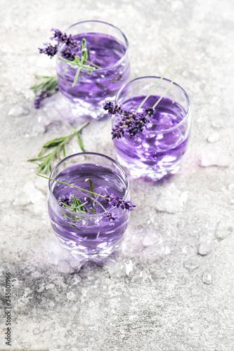 Lavender drink Summer lemonade Floral till life Wallpaper Mural