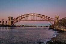 Hell Gate Bridge At Sunset