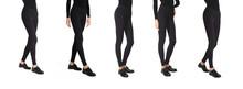 Set Of Woman Wear Black Blank ...