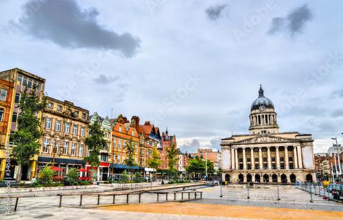 Carta da parati Old Market Square with Nottingham City Council, England