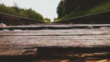 Damaged Wooden Railroad Tie