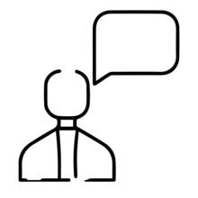 Hablando Icono, Pensamiento Ic...