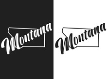Vector Illustration Of Montana...