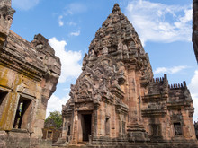 Phanom Rung Historical Park,is Castle Rock Old Architecture About A Thousand Years Ago At Buriram Province,Thailand
