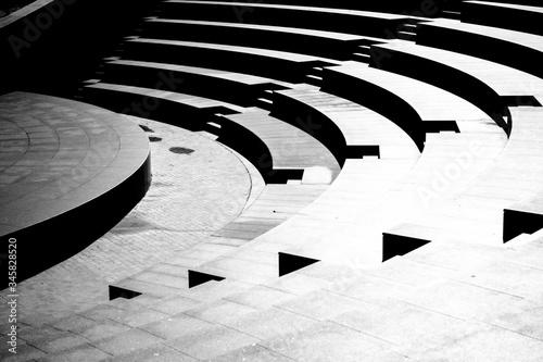 Fotografiet Full Frame Shot Of Modern Amphitheater