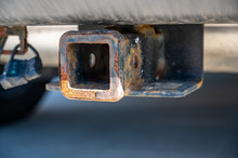 Uncovered Rusty Trailer Hitch ...