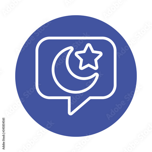 Fototapety, obrazy: moon night with star in speech bubble