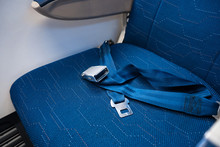 An Unfastened Seat Belt On An ...