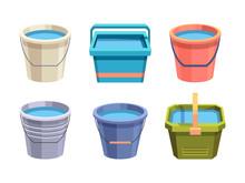 Buckets Set. Metal And Plastic...