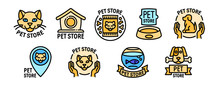 Pet Store Icons Set. Outline Set Of Pet Store Vector Icons For Web Design Isolated On White Background