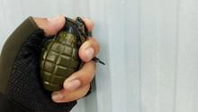 Hand Holding Grenade
