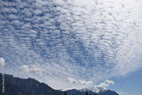 Altocumulus Wolken formation Wallpaper Mural