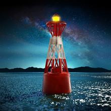 Sea Buoy In The Night. 3D Illu...