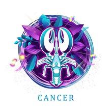Cancer Zodiac Sign White Backg...