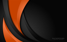Modern Orange And Black Contra...
