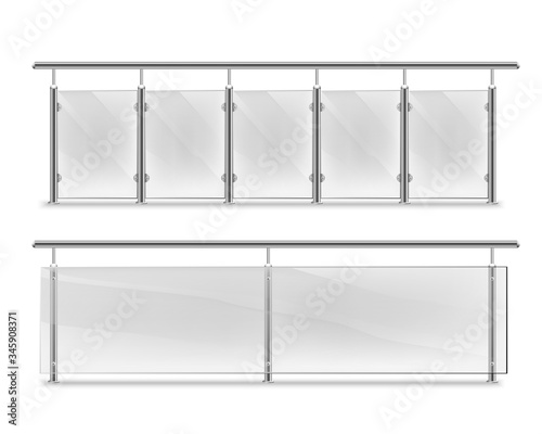 Fotomural handrails with glass for advertising