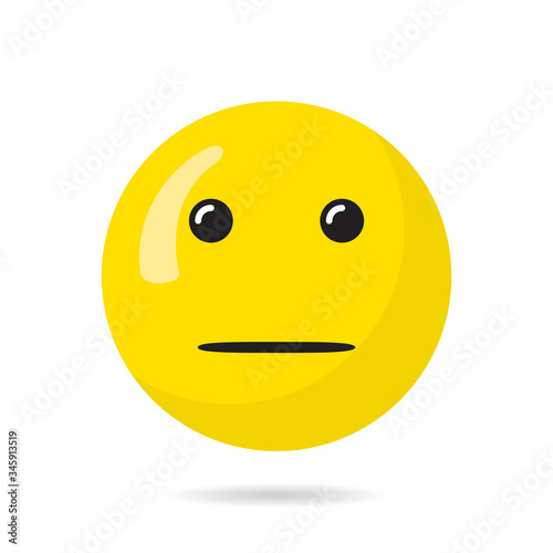 Indifferent Happy Face Cold Emotionless Straight Mouth Circle Template for Your Slika na platnu