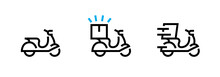 Set Fast Delivery Icons. Editable Vector Stroke.