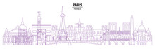 Paris Skyline Vector 18