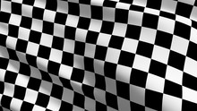 Checkered Flag. Black And Whit...