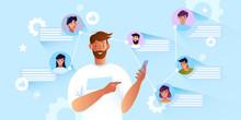 Online Communication Concept W...