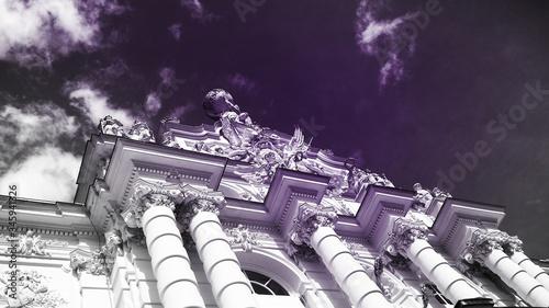 Fotografering Facade With Colonnade