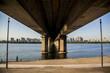 Low Angle View Of Seogang Bridge Over Han River