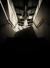 Low Angle View Of Subway Stair...
