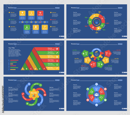 Valokuva Infographic design set can be used for workflow layout, diagram, annual report, presentation, web design