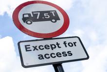 UK Road Sign Explaining That T...