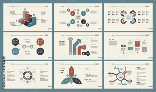Infographic design set can be used for workflow layout, diagram, annual report, presentation, web design Canvas-taulu