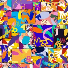 Seamless Patchwork Pattern Wit...
